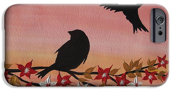 Cherry Blossoms Mixed Media iPhone Cases - Triumphant Return iPhone Case by Cathy Jacobs
