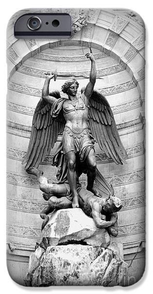 Triumphant Saint Michael iPhone Case by Carol Groenen