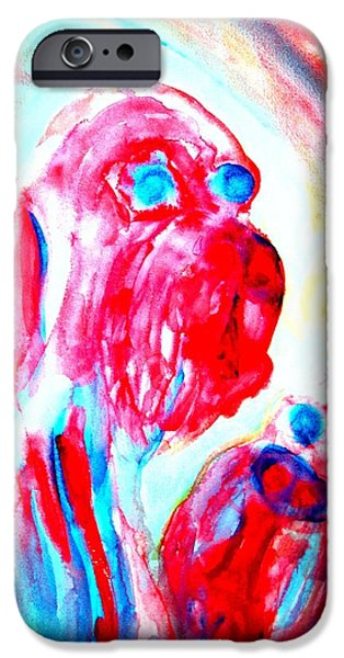 Particular Paintings iPhone Cases - Troll Mother iPhone Case by Hilde Widerberg