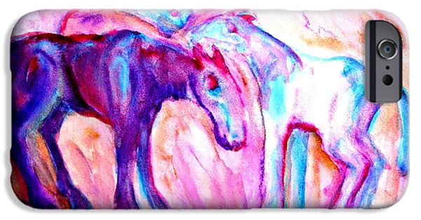 Component Paintings iPhone Cases - We Are Family iPhone Case by Hilde Widerberg