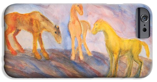 Component Paintings iPhone Cases - Remembering Us iPhone Case by Hilde Widerberg