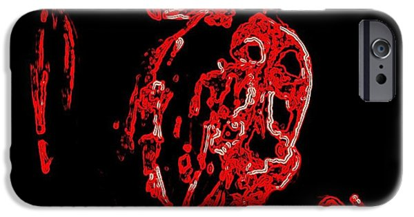 Biological Paintings iPhone Cases - Trolls In Darkness iPhone Case by Hilde Widerberg