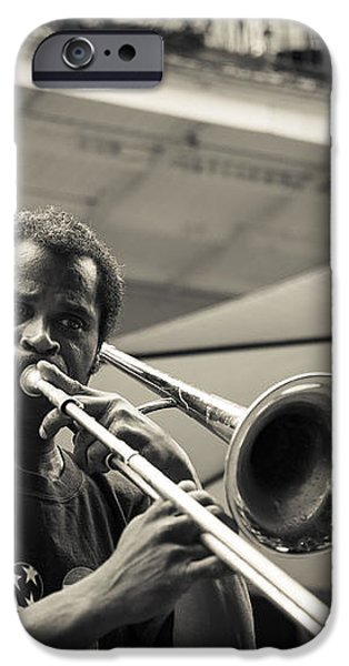 Trombone in New Orleans iPhone Case by David Morefield