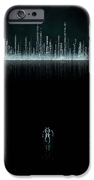 Tron City iPhone Case by Edwin Urena