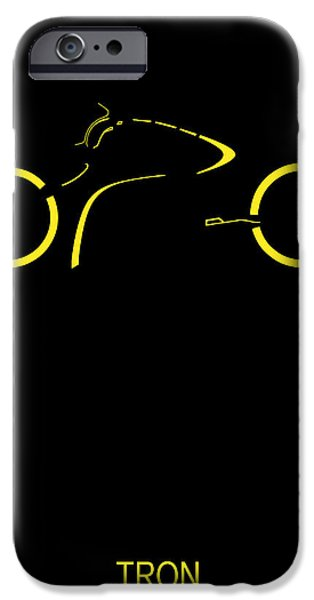 Tron iPhone Cases - Tron Minimalist Movie Poster iPhone Case by Finlay McNevin