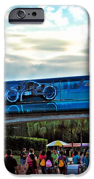 Tron Monorail At Walt Disney World iPhone Case by Thomas Woolworth