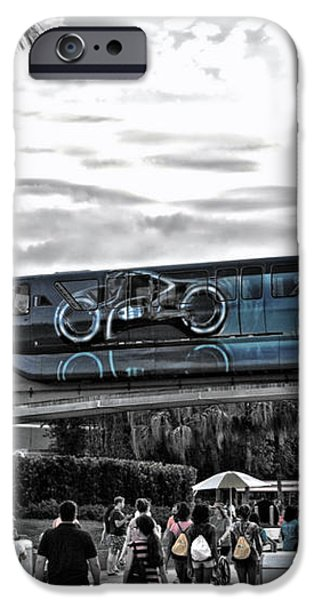 Tron Monorail WDW in SC iPhone Case by Thomas Woolworth