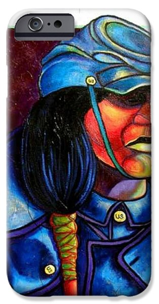Trooper Crow-Horse iPhone Case by Joe  Triano