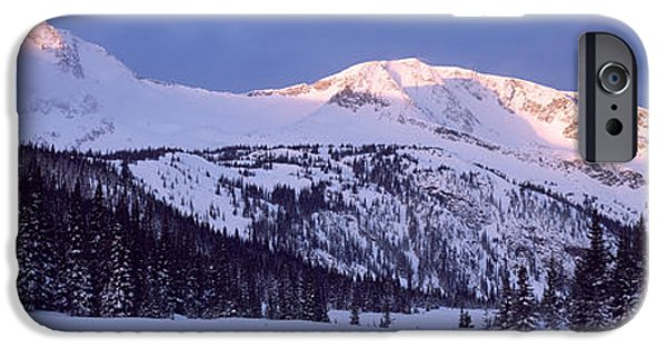 Snowy Day iPhone Cases - Trophy Mountain British Columbia Canada iPhone Case by Panoramic Images