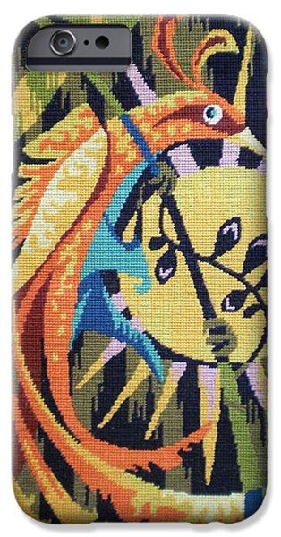 Animal Tapestries - Textiles iPhone Cases - Tropic Bird Tapestries Textiles iPhone Case by Brunet Mario