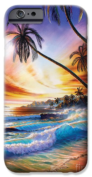 Vacation Digital iPhone Cases - Tropical Beach iPhone Case by Adrian Chesterman