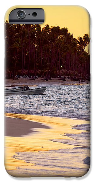 Tropical beach at sunset iPhone Case by Elena Elisseeva