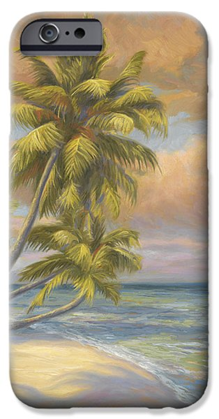 Beach iPhone Cases - Tropical Beach iPhone Case by Lucie Bilodeau