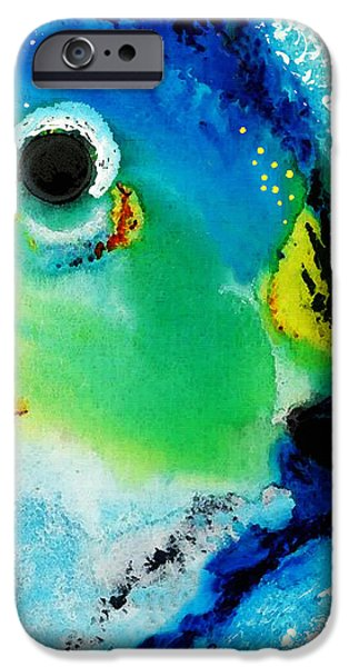Naples iPhone Cases - Tropical Fish 2 - Abstract Art By Sharon Cummings iPhone Case by Sharon Cummings
