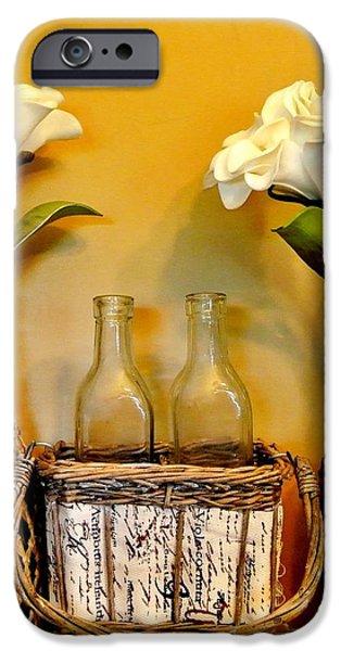 Wrap Digital Art iPhone Cases - Tropical Flowers iPhone Case by Marsha Heiken