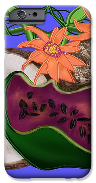 Tropical Fruit iPhone Case by Christine Fournier