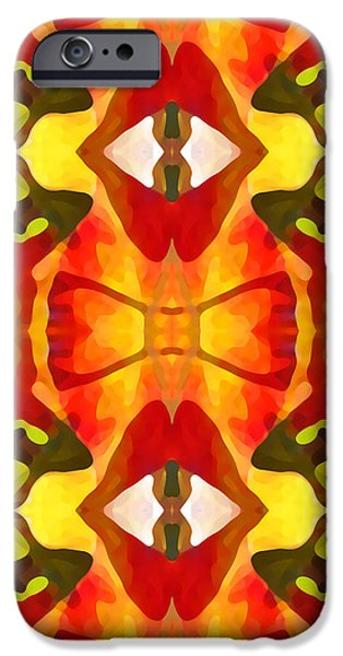 Tropical Leaf Pattern 7 iPhone Case by Amy Vangsgard