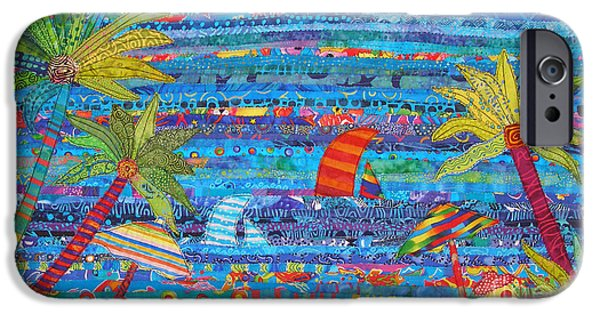 Beach Landscape Tapestries - Textiles iPhone Cases - Tropical Moments iPhone Case by Susan Rienzo