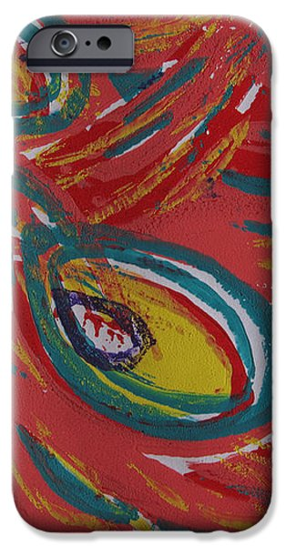 Tropical Peacock iPhone Case by Jennifer Schwab