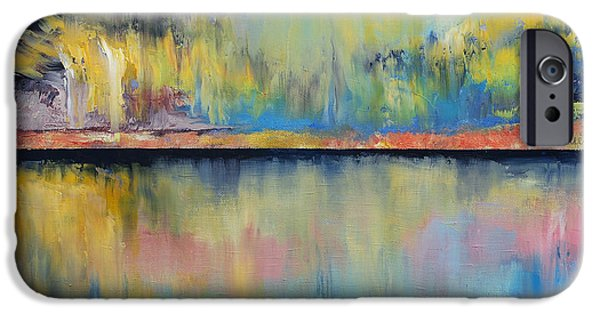 Michael Paintings iPhone Cases - Tropical Rain iPhone Case by Michael Creese
