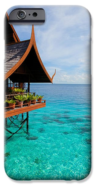 Exoticism iPhone Cases - Tropical resort iPhone Case by Fototrav Print