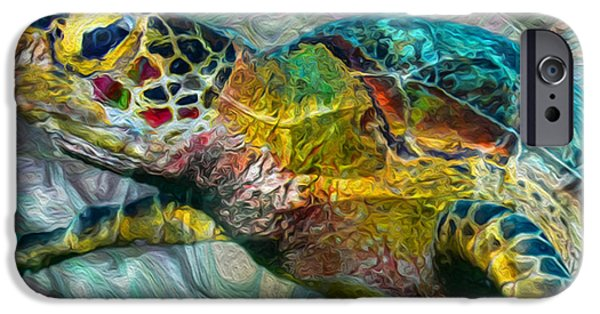 Recently Sold -  - Nature Abstracts iPhone Cases - Tropical Sea Turtle iPhone Case by Jack Zulli