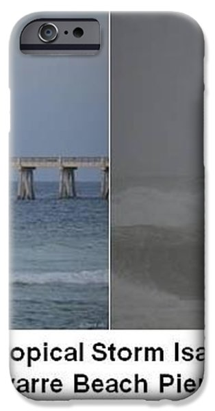 Tropical Storm Isaac Difference in a Day iPhone Case by Jeff at JSJ Photography
