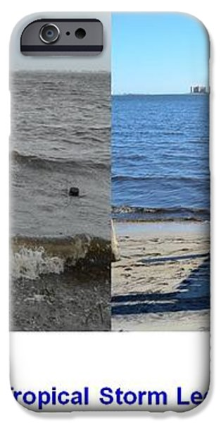 Tropical Storm Lee Difference a Day Makes iPhone Case by Jeff at JSJ Photography