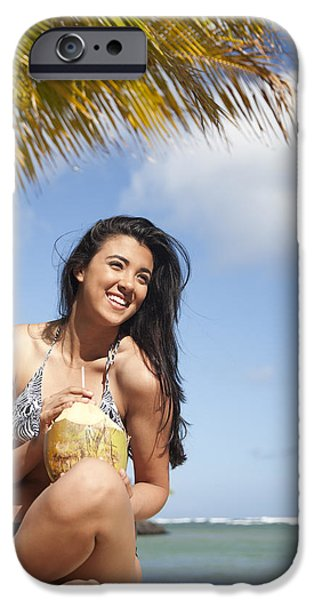 Tropical Vacationer iPhone Case by Brandon Tabiolo