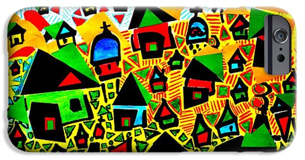 Village iPhone Cases - Tropical village iPhone Case by Wilson Abad