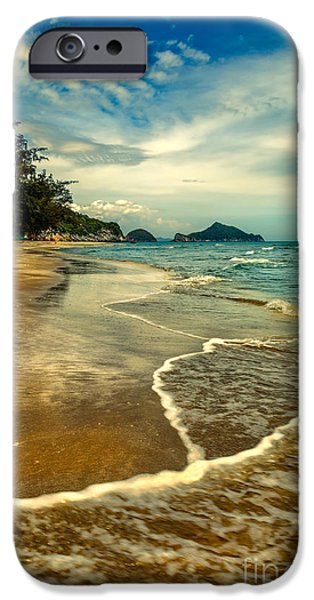 Tropical Waves iPhone Case by Adrian Evans