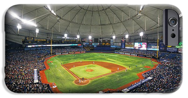 Devil Ray iPhone Cases - Tropicana Field 2 iPhone Case by C H Apperson