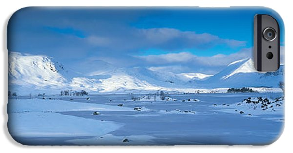 Snowy Day iPhone Cases - Trossachs National Park Scotland Uk iPhone Case by Panoramic Images