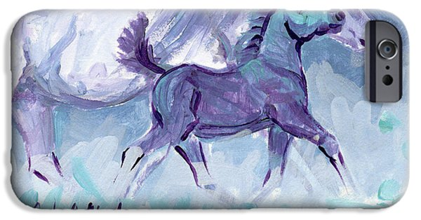 Llmartin iPhone Cases - Trot iPhone Case by Linda L Martin