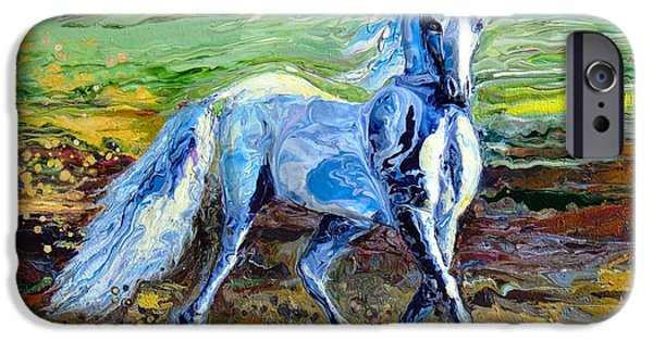 Nature Abstracts Reliefs iPhone Cases - Trotting With Style iPhone Case by En-Chuen Soo