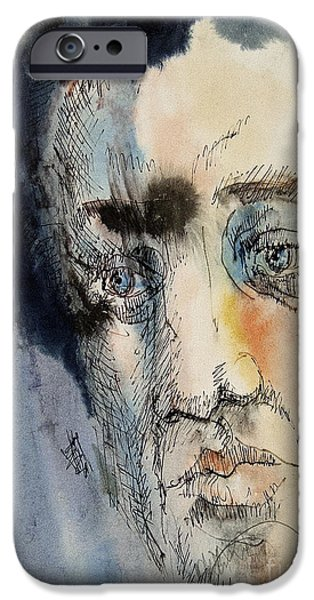 Pen And Ink iPhone Cases - Troubled - 2 iPhone Case by Anthony Coulson