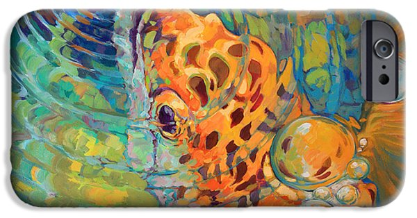 Fresh Water Fish iPhone Cases - Trout Rise iPhone Case by Mike Savlen