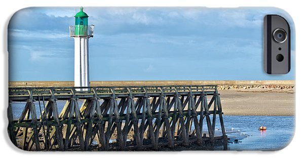 Lighthouse iPhone Cases - Trouville lighthouse iPhone Case by Delphimages Photo Creations