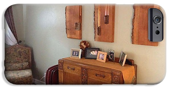 Home Reliefs iPhone Cases - Trowel Triptych displayed in collectors home iPhone Case by Bill Czappa