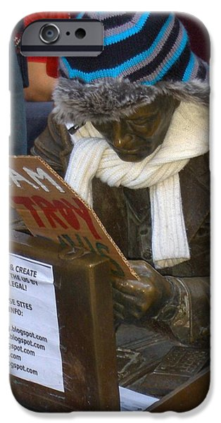 Statue Portrait iPhone Cases - Troy iPhone Case by Karen Kammer