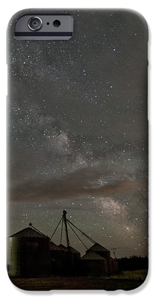 Grain iPhone Cases - Troy Milky Way iPhone Case by Latah Trail Foundation