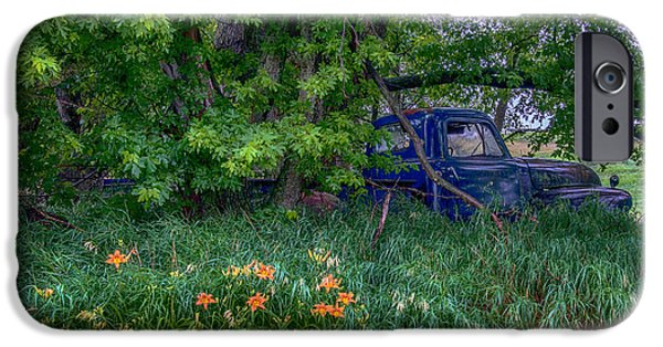 Rust iPhone Cases - Truck In The Forest iPhone Case by Paul Freidlund