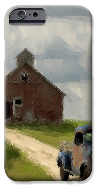 Trucks And Barn iPhone Case by Jack Zulli
