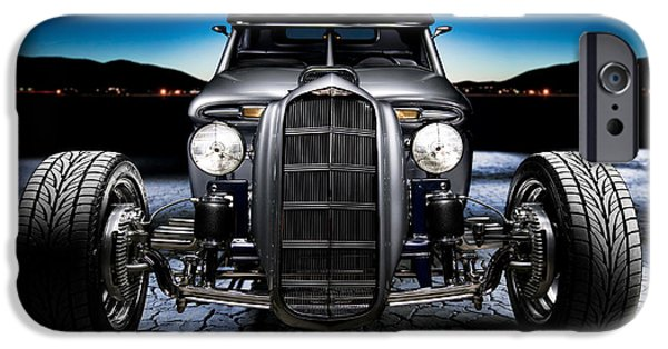 Dry Lake iPhone Cases - Millers Chop Shop 1964 Truckster Frontend iPhone Case by Yo Pedro