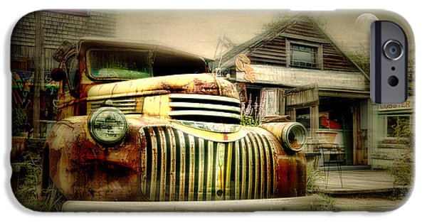 Junk Yard iPhone Cases - Truckyard iPhone Case by Diana Angstadt