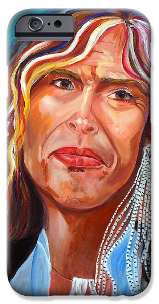 Steven Tyler Paintings iPhone Cases - True Colors iPhone Case by To-Tam Gerwe