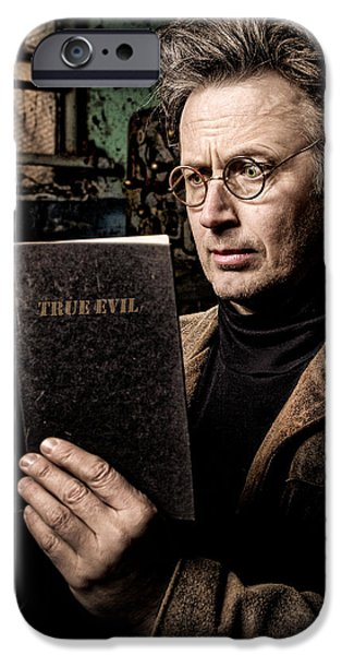 Dr Who iPhone Cases - True Evil - Science Fiction - Horror iPhone Case by Gary Heller