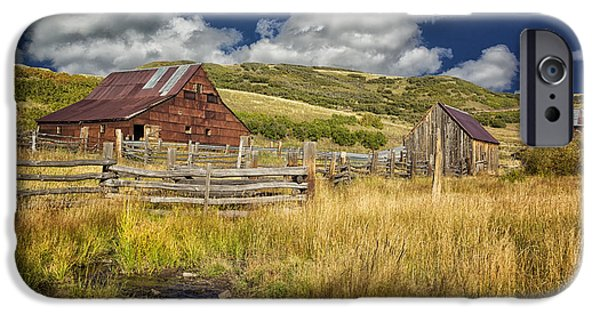True Grit iPhone Cases - True Grit Ranch Near Ridgway CO DSC08047 iPhone Case by Greg Kluempers