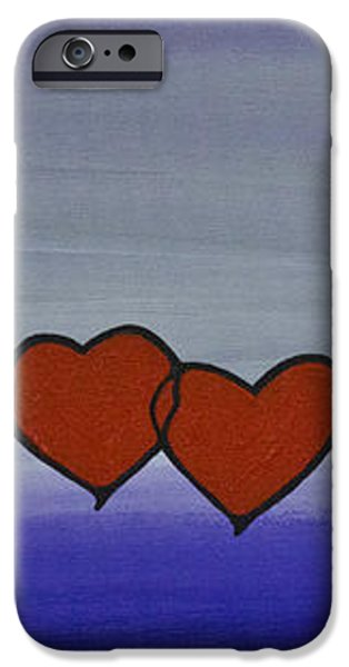 Purple Prints iPhone Cases - True Love iPhone Case by Sharon Cummings