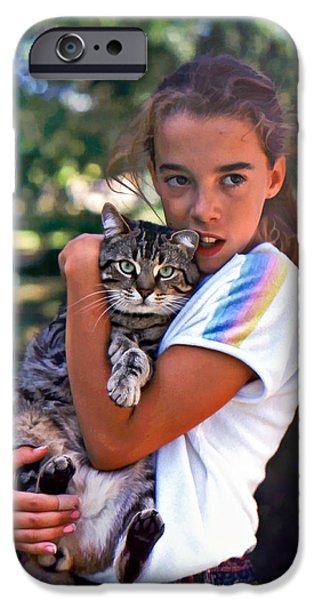 Domestic Short Hair Cat iPhone Cases - True Love iPhone Case by Steve Harrington